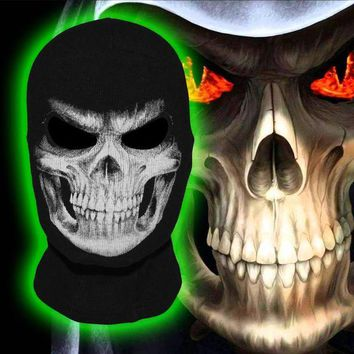 ONETOW The Grim Reaper Scare Skull Ghost Death Halloween Balaclava Full Face Mask Airsoft Costume Headwear Motorcycle Military Army