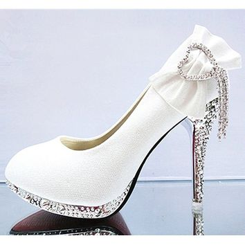 Rhinestone High-heeled Shoes Wedding Shoes Many Colors