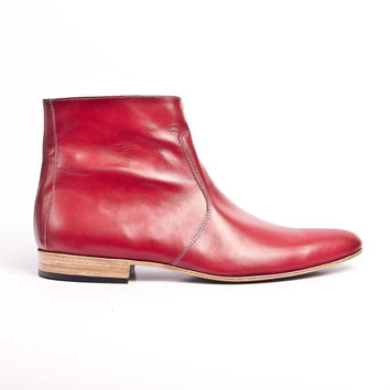 red leather beatle boots buffalo 66 Vincent Gallo by goodbyefolk