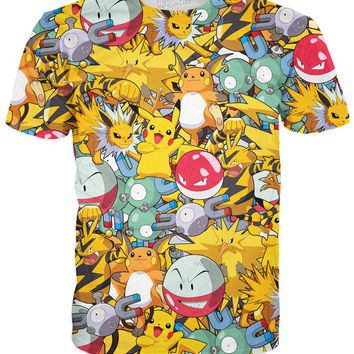 Original Electric Pokemon Collage T-Shirt