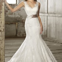Low Back Wedding Dress by Essense of Australia