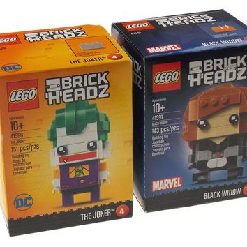 LEGO Brickheadz Set of 2 Marvel Black Widow DC Comics The Joker
