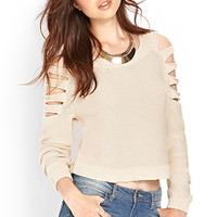 Clear Cut Cropped Sweater