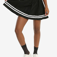 Black Pleated Cheer Skirt