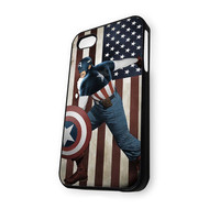 Captain America Flag iPhone 4/4S Case