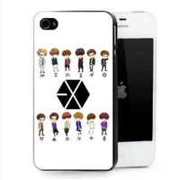 KPOP ACCESSORIES EXO K M Support Iphone4/4s Case Hot Sale (White)