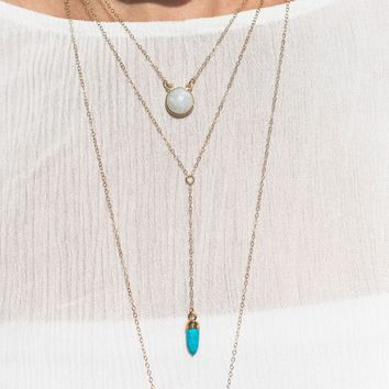 Gemstone Y Necklace