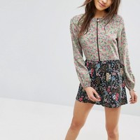 ASOS Pretty Floral Mix & Match Playsuit at asos.com