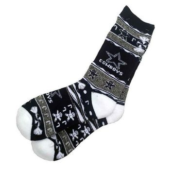 ICIKN4D Dallas Cowboys Xmas Socks
