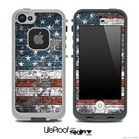 Vintage USA Flag Skin for the iPhone 5 or 4/4s LifeProof Case