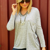 Her Perfect Shadow Top: Light Gray