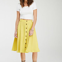 Longline Button-Front Skirt