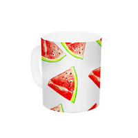"Sreetama Ray ""Summer Fun"" Watermelon Ceramic Coffee Mug"