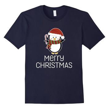 Merry Christmas Cute Penguin Happy Holiday Xmas Pun T-Shirt