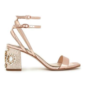 CHARM Rose Gold Sandals - Shoes