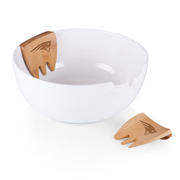 New England Patriots - Romano Salad Bowl & Servers Set (Bamboo)