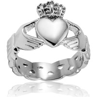 Stainless Steel Men's Celtic Eternity Claddagh Ring | Overstock.com