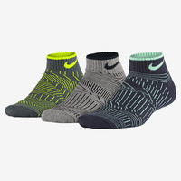 The Nike Graphic Lightweight Cushioned Crew Kids' Socks (3 Pair).