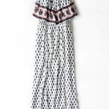 AEO Women's Ruffled Boho Maxi Dress