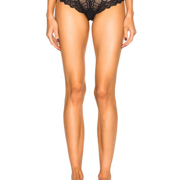 fleur du mal Bianca Lace Cheeky Panty in Black | FWRD