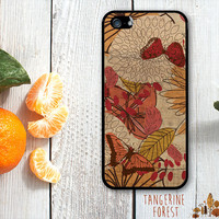 Retro Color Butterflies With Wood Background. iPhone 4 // 4s // 5 // 5s // 5c
