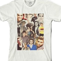 dave franco collage-Unisex White T-Shirt