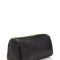 Pebbled Faux Leather Makeup Pouch
