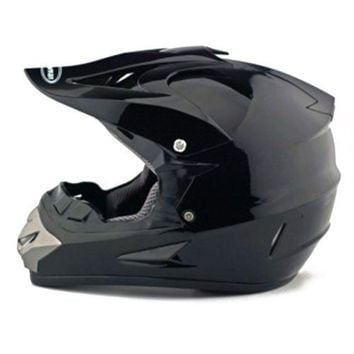 Motorcycle Motor Bike Scooter Safety Helmet bright black