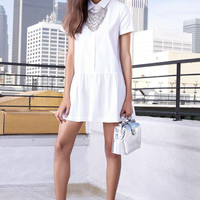 Drop of the Hour White Shirt Dress