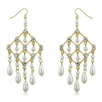 Art Deco Chandelier Pearl Earrings