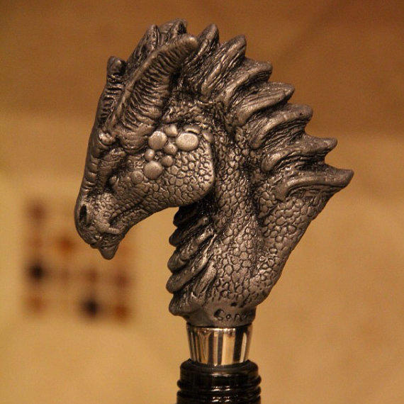 Dragon Head Wine Stopper Unique Dragon From Gorecollection On