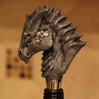 Dragon Head Wine Stopper, Unique dragon bottle topper
