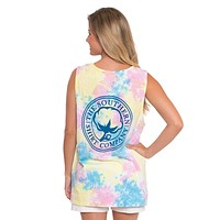 Tie Dye Pocket Tank Top in Sunny Day by The Southern Shirt Co.