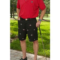 "Georgia Black ""G"" Stadium Shorts - University of Georgia - Colleges and Universities Pennington & Bailes - Quality Game Day Attire"