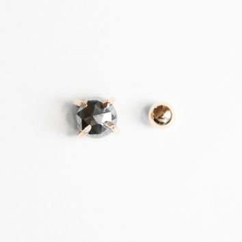Pyrite Mismatch Gold Stud Earrings