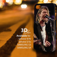 Kurt Cobain Nirvana (tm) 3D iPhone Case for iPhone 4/4S, iPhone 5/5S and,Samsung Galaxy S3, S4