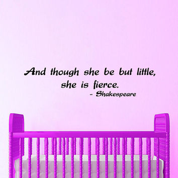 Baby Girl Wall Decal Quote Shakespeare Sayings Nursery Vinyl Sticker Art Childrens Playroom Bedroom Interior Design Kids Nursery Decor KI147
