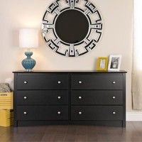 Broadway Black 6-drawer Dresser - Walmart.com