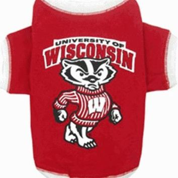 CUPUPHP Wisconsin Badgers Dog Tee Shirt