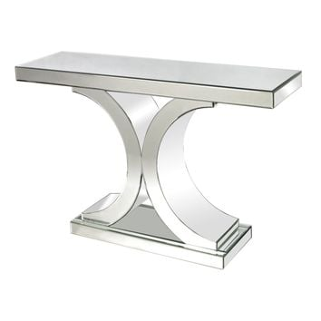Mirrored Console Table Clear