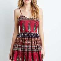 Abstract Paisley Fit & Flare Dress