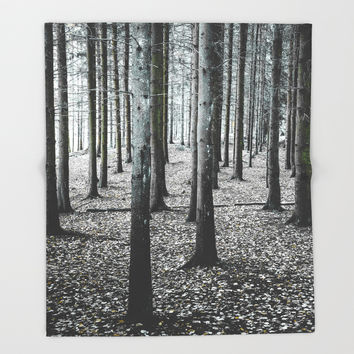 Coma forest Throw Blanket by happymelvin