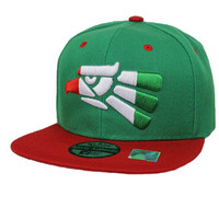 * Mexico Design with Flag Design Snap Back In Green/Red