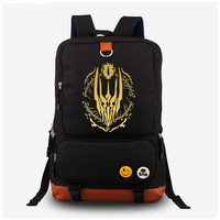 2017 The Hobbit The Lord of the Rings Eye of Sauron Gilding Printing Women Laptop Canvas Backpack Mochila Escolar chool Bags