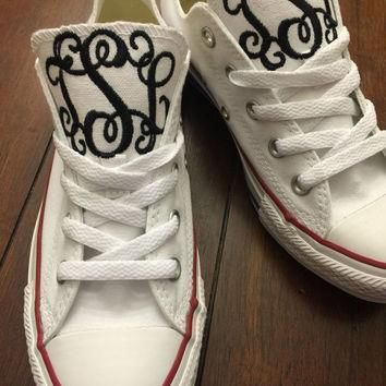 monogrammed converse chuck taylors high or low top