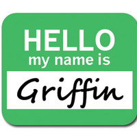 Griffin Hello My Name Is Mouse Pad