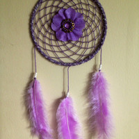 Medium lavender dream catcher.