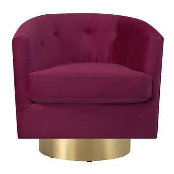 Harlow Swivel Chair CRANBERRY
