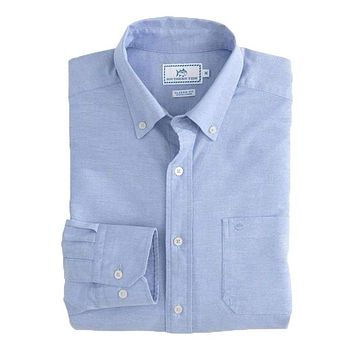 Channel Marker Oxford Solid Sport Shirt by Southern Tide