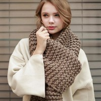 Korean Handcrafts Couple Knit Scarf [120845762585]